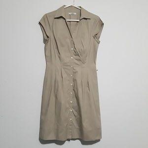 Banana Republic Button Down Khaki Dress Size 8